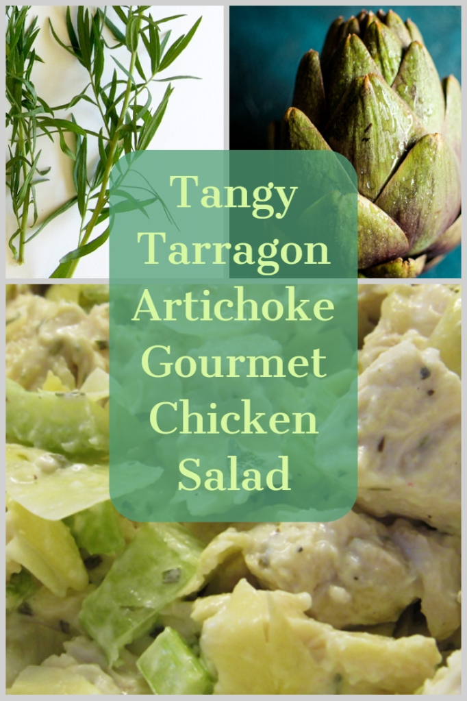 Tangy Tarragon Artichoke Gourmet Chicken Salad - livingbewitchingly.com