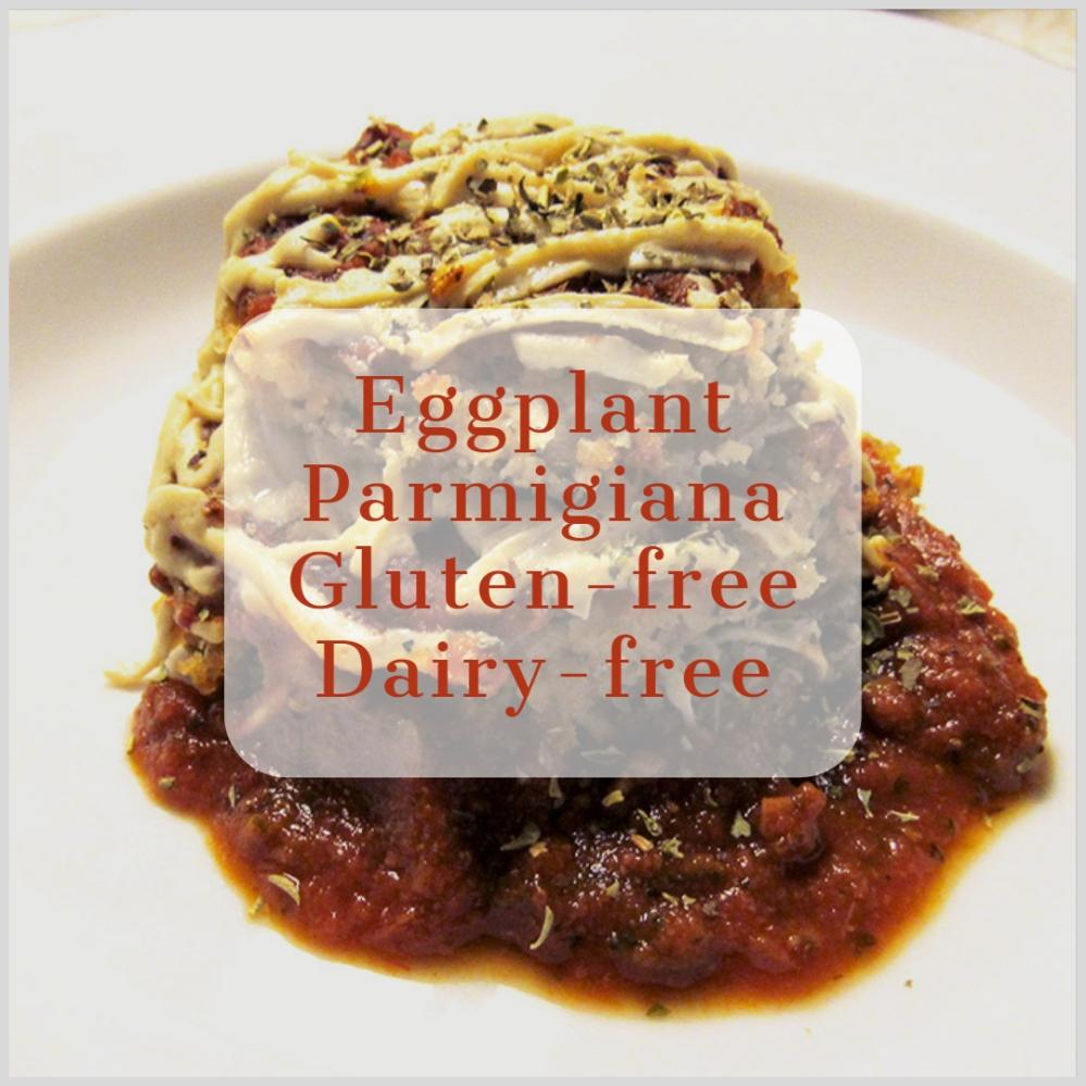Eggplant Parmigiana Gluten Free Dairy Free - livingbewitchingly.com