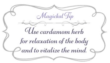 Magickal Tip - Cardamom Herb - livingbewitchingly.com